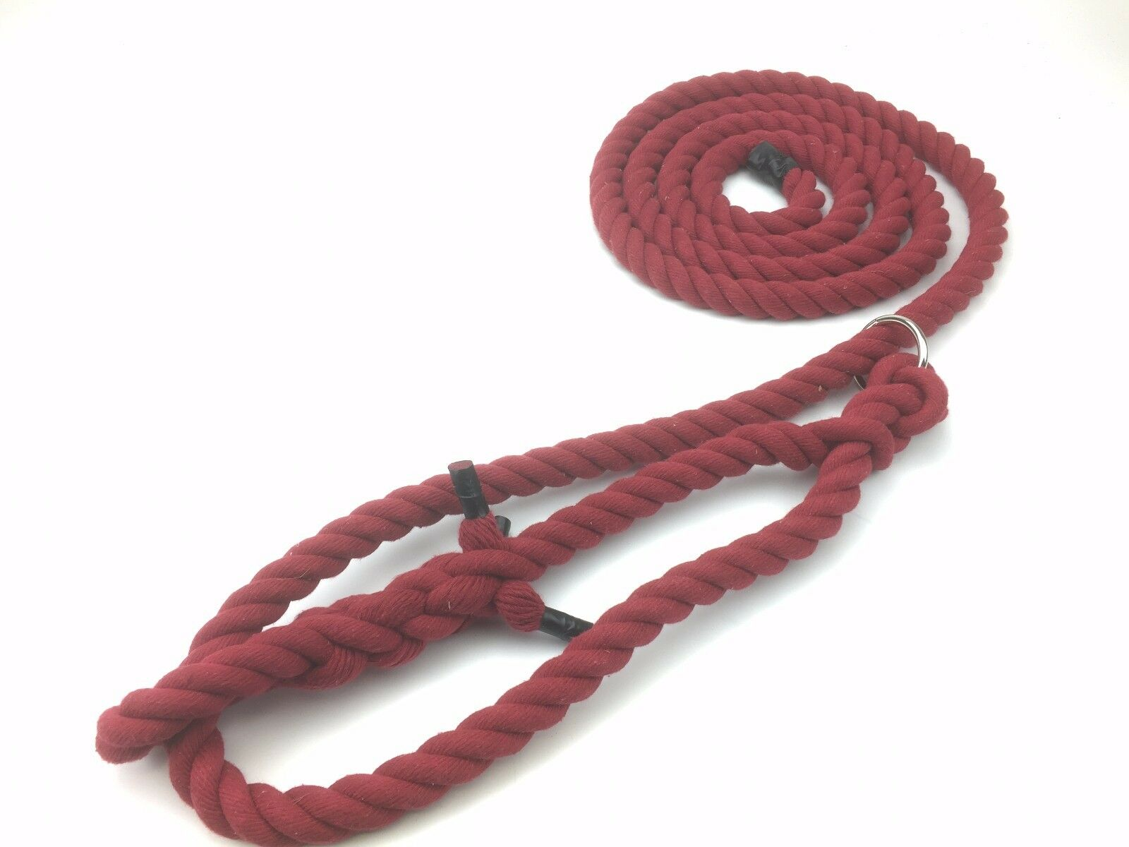 5 x 20mm Burgundy Red Natural Cotton Bull Halters, Rope Halter, Ringed
