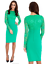 Goddess-Jade-Long-Lace-Sleeve-Bengaline-Fitted-Cocktail-Party-Evening-Dress thumbnail 1