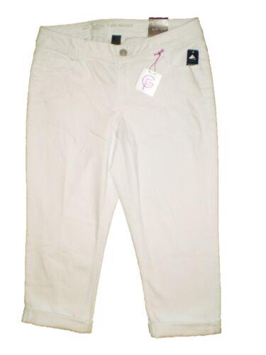 Lane Bryant Genius Fit Capris Crop White Stretch Denim Jeans Plus Size New $60