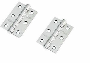 "4/"" EUROSPEC Satin Stainless Steel Grade 13 Fire Rated Door Ball Bearing Hinges"