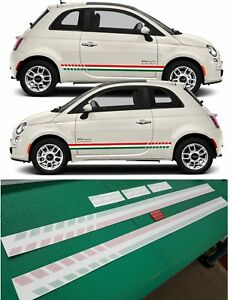 Fiat-500-sport-Italian-Side-Stripes-Graphics-Decals-Stickers-quality-laminated
