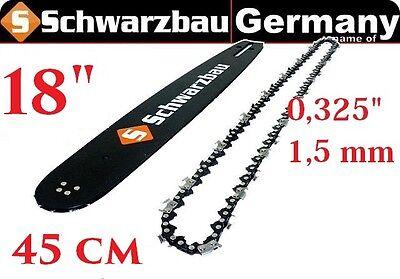 """Führungsschiene Schwert passend für Boomag 5800-45cm 0.325/"""" 72TG 1,5mm"""