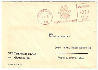 961 Sammlung Hier Afs Veb Textilwerke Einheit 14.5.69 Exquisite Handwerkskunst; O Glauchau