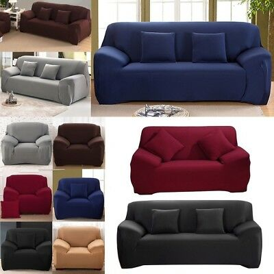 Terrific Soft Solid Micro Suede Sofa Loveseat Armchair Cover Slipcover Protector Couch Ebay Andrewgaddart Wooden Chair Designs For Living Room Andrewgaddartcom