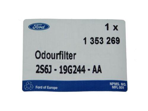ORIGINAL Ford Pollenfilter Aktivkohlefilter Fiesta V Fusion  1353269