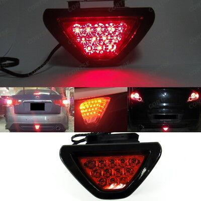 LEDIN F1 style 12 LED Rear Tail Brake Stop Light 3rd Red Strobe safety bumper Fog Lamp