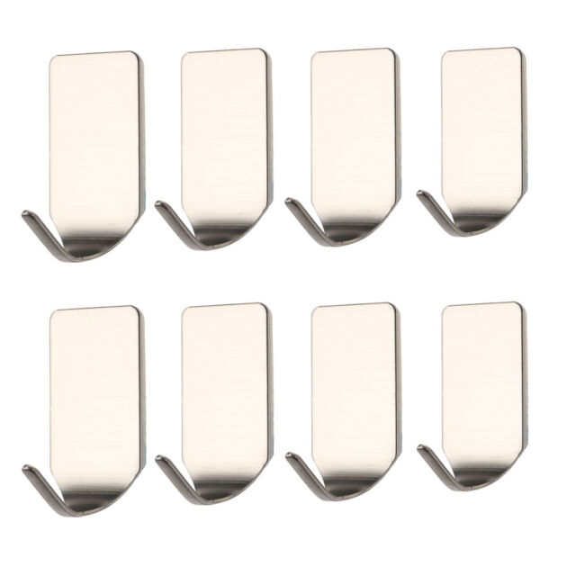 3Pcs Bathroom Stainless 3M Self Adhesive Sticky Hooks Wall Storage Hanger