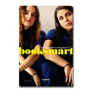Booksmart Movie Canvas Silk Poster Olivia Wilde Beanie Feldstein Art Film Print