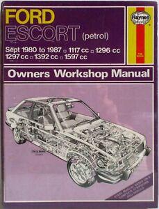 Haynes-Ford-Escort-Sept-1980-87-Tous-les-Modeles-Proprietaire-Atelier-Manuel