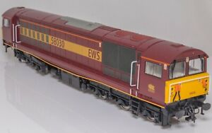 Heljan-5824-00-Gauge-Class-58-Co-Co-Diesel-Locomotive-58030-EWS-maroon