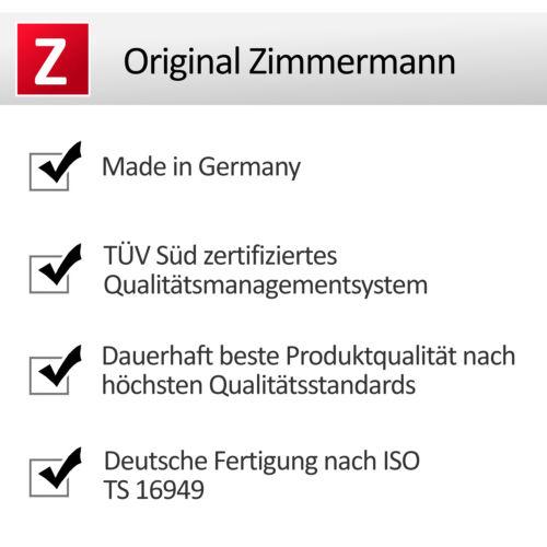 ZIMMERMANN BREMSSCHEIBEN SET Ø 280 mm BREMSBELÄGE VORNE AUDI A4 B6 B7