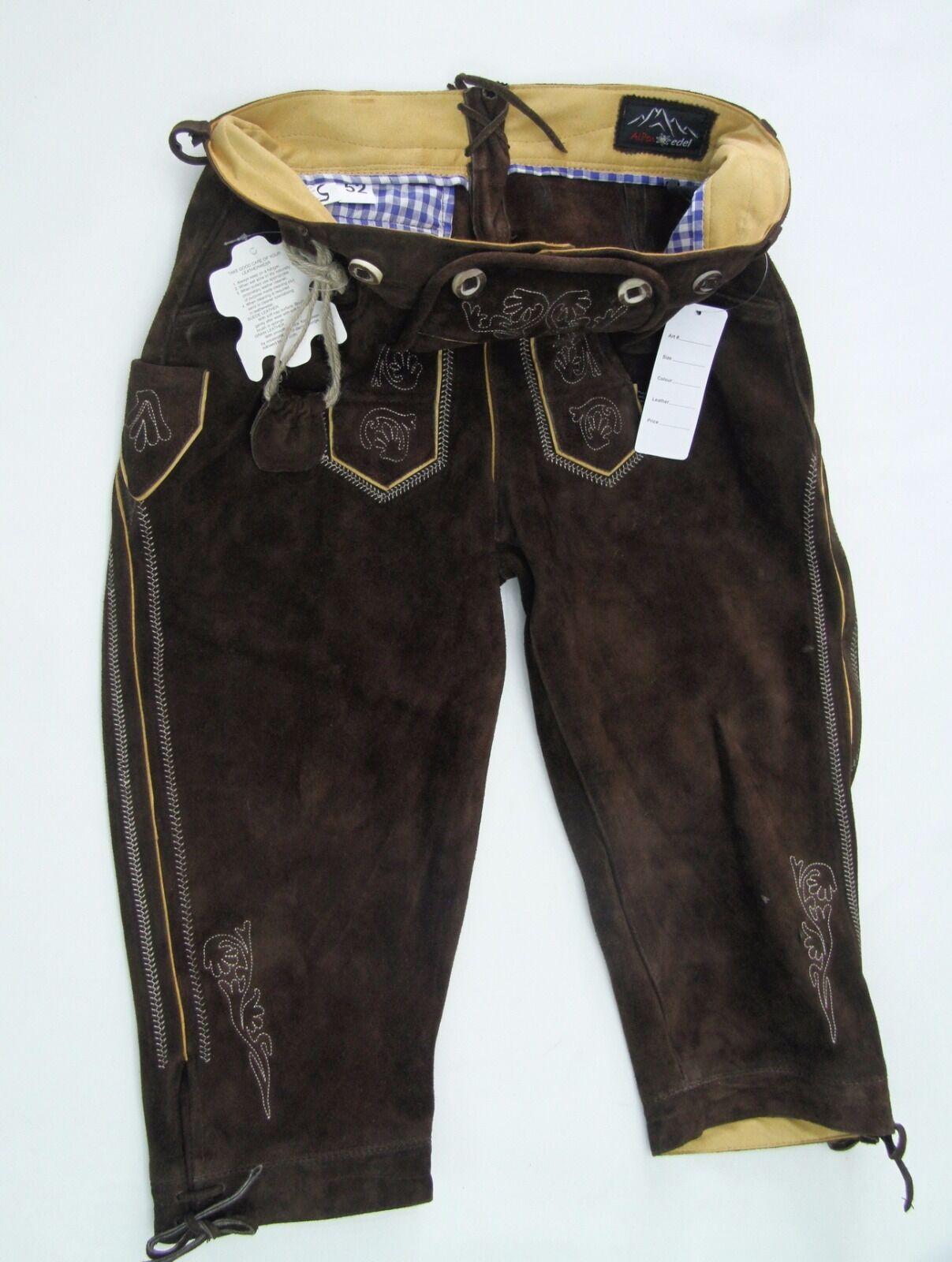 Trachtenhose Herren Dunkelbraun capri Größen 60,58,56,54,52,50,48,46 | Hohe Sicherheit  | Wirtschaft  | Mode-Muster  | Verrückter Preis  | Trendy
