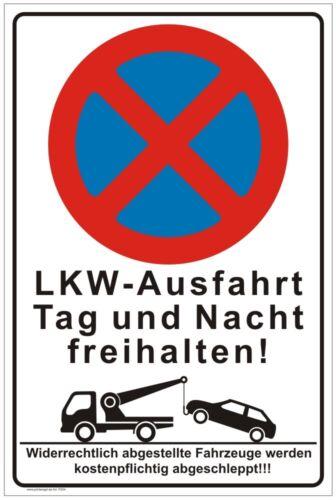 Schild,Parkplatzschild,LKW Ausfahrt freihalten,Privatparkplatz,Parkverbot,P255