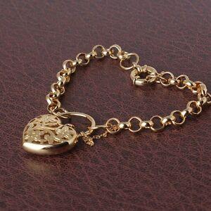 Wedding-jewelry-14K-gold-filled-charms-lady-FASHION-bracelet-7-034-19-7g