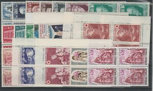 FRANCOBOLLI-1968-74-FRANCIA-LOTTO-FRANCOBOLLI-IN-QUARTINA-MNH-E-1805