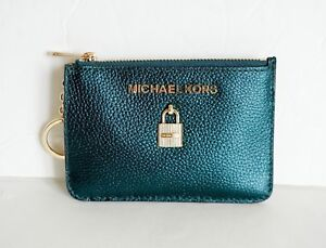 00262a8863432 NWT MICHAEL KORS SMALL TOP ZIP COINPOUCH WITH ID KEY RING CARD ...