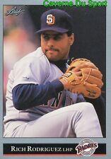 319   RICH RODRIGUEZ    SAN DIEGO PADRES BASEBALL CARD LEAF 1992