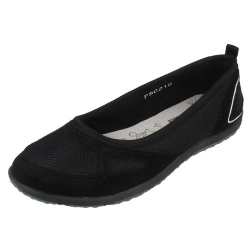 Ladies Down To Earth Flat Mesh Shoes F80210