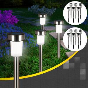 24x-LED-Solarleuchte-Solar-Leuchten-Edelstahl-Solarlampe-Gartenleuchten-Garten