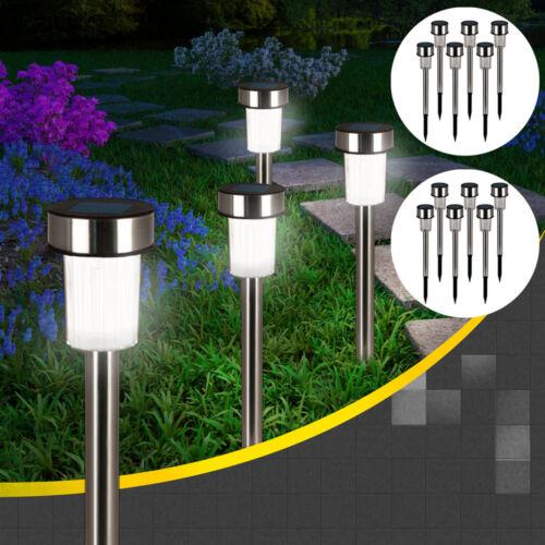 Deuba 24x Lampe solaire DEL Solaire Lampes Acier Inoxydable Lampe Solaire Jardin Feux