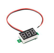 Mini Digital Voltmeter 0 100 Vdc Green Led Panel Voltage Meter With Three Wires