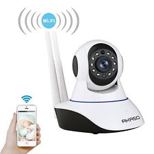 Dual Antenna wireless IP CCTV security camera HD wifi SD Card slot Mic live view