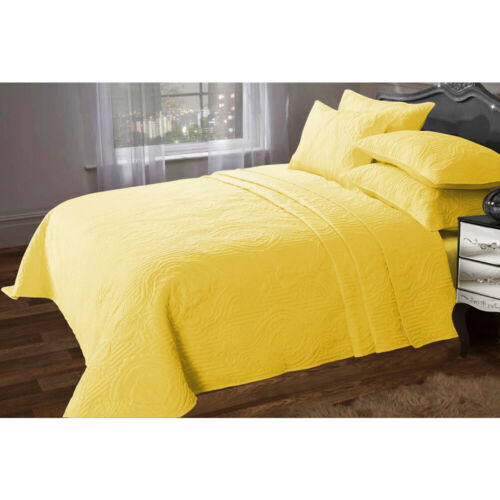 Luxe Couette Couvre-lit Set jette Pillow Sham Polyester Pour Double King Size