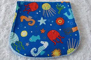Fish-Jellyfish-Seahorses-amp-Starfish-Blue-Burp-Cloth-Handmade