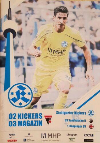 07.09.19 SV Sandhausen II Stadionheft Stuttgarter Kickers Göppingen Magazin