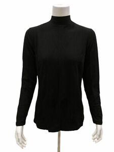 Isaac Mizrahi Mock-Neck Long Sleeves Knit Top with Princess Seams X-Small Size