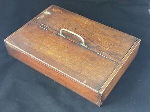 Vintage FINE GEORGIAN ANTIQUE OAK CUTLERY BOX BUTLERS TRAY Wooden