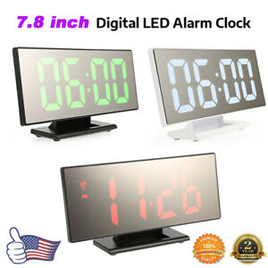 Digital-Mirror-Alarm-Clock-Night-Light-Thermometer-LED-Large-Display-USB-Battery