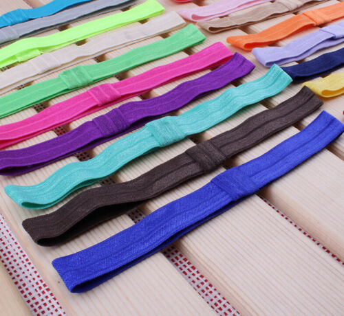 Easy 10X/lot 1.5cm Shiny Elastic Kids Baby Girls Hair Bands Colors Random Hot* Baby & Toddler Clothing