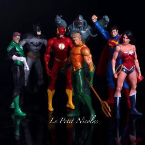 DC-Comics-Justice-League-lot-de-7-Figurines-super-heros-Superman-Batman-statues