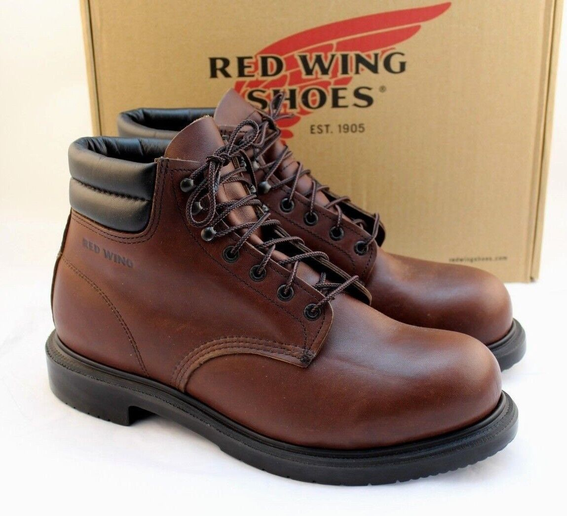 "New RED WING 2245 Size 11.5 E Steel Toe Men's 6"" Work Boots RETAIL"