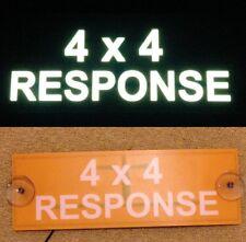 4x4 Response Illuminated LED Visor Car Sign Mountain Rescue Search Coastguard