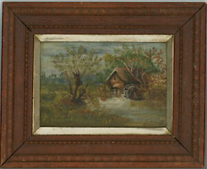 Framed Mid 20th Century Oil - The Watermill