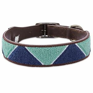 Bond-amp-Co-Geometric-Triangle-Blue-Dog-Collar-For-Neck-Sizes-12-15-Small
