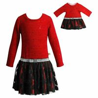 Dollie Me Girl 5-14 And Doll Matching Red Black Fancy Dress Outfit American Girl