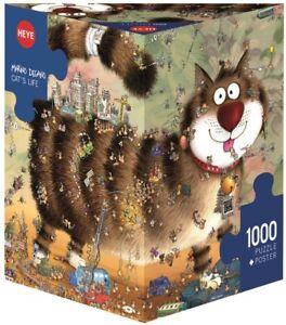MARINO DEGANO - CAT'S LIFE - Heye Puzzle 29569 - 1000 Teile Pcs.