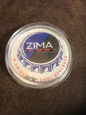 Vintage ZIMA Clearmalt Plastic Balance Bar Game w// 4 Balls 1990s