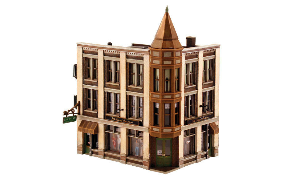 DPM HO Corner Department Store Plastic Building Model Railroading Kit FREE SHIP