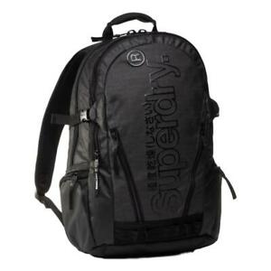 Superdry-Neuf-Homme-Bache-Sac-a-Dos-Gris-Chine-Neuf-avec-Etiquette