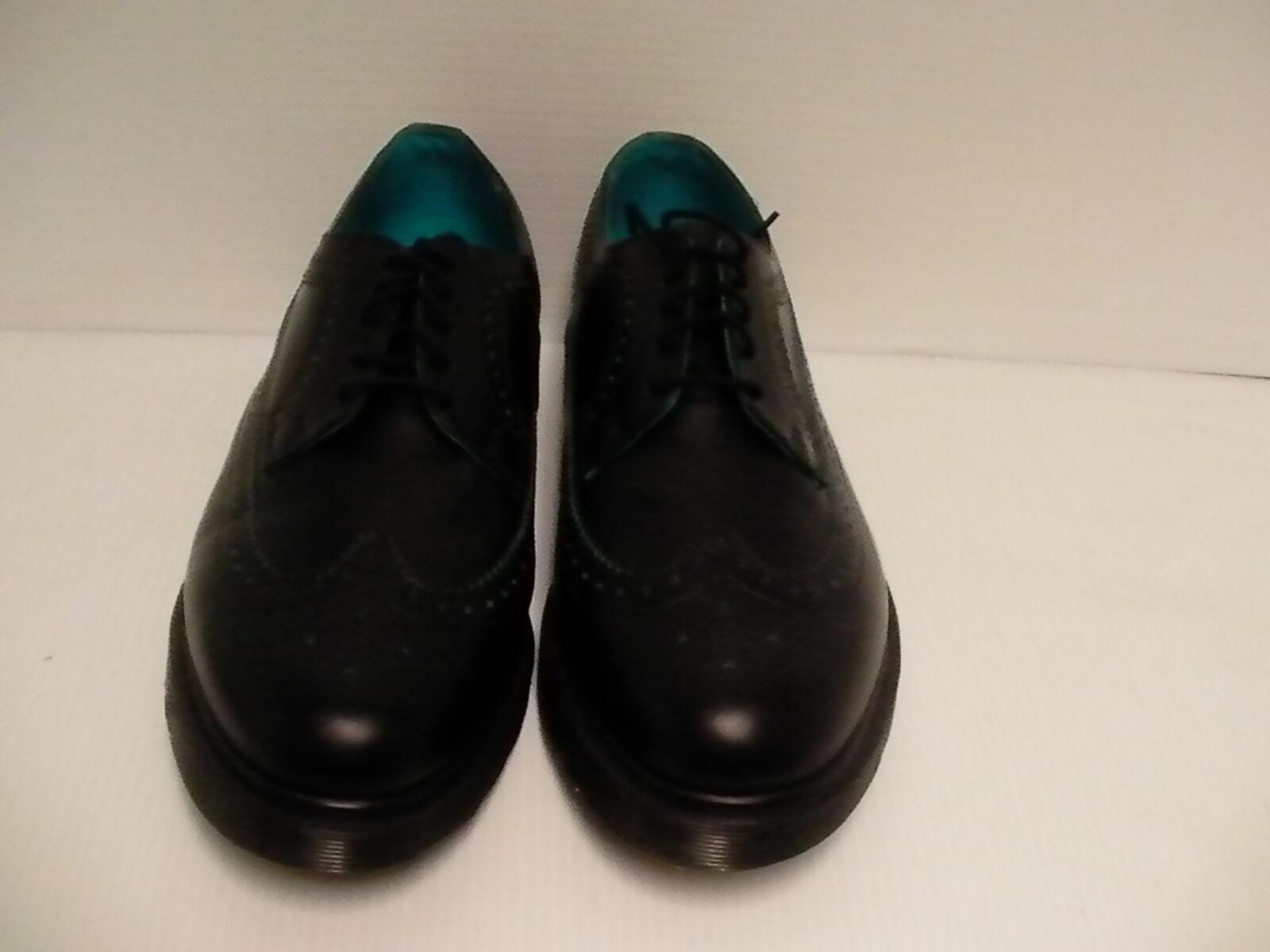 Uomo Dr Martens Scarpe Casual Oxford pelle, Nero Blu Taglia 12 USA Nuovo