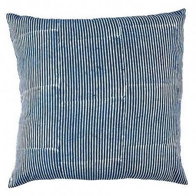 NEW Indigo Stripes Hamptons Cushion Cover