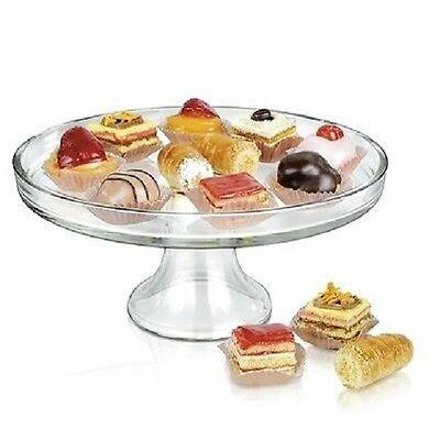 Glass Cake Stand Serving Platter Wedding Cake Cupcake Display Dessert Tray Plate