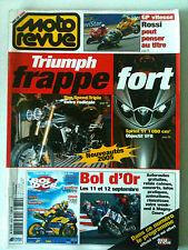 MOTO REVUE n° 3630 du 09/2004; Triumph/ GP vitesse, Rossi/ Bol d'Or/ Ducati 999