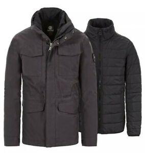 Details about Timberland Men's Snowdon Peak 3 in 1 M65 Waterproof Jacket Size: M
