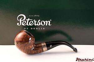 PFEIFE PIPES PIPE PETERSON OF DUBLIN WICKLOW 03 CURVA RADICA ORIGINALE SILVER