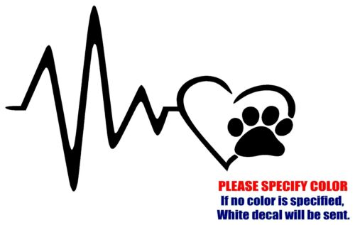 Heart Beat Paw JDM Funny Vinyl Decal Sticker Car Window Bumper Wall Laptop 7/""